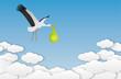 cigogne bébé nuages