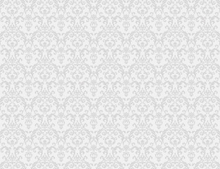 white floral pattern wallpaper