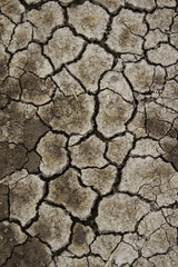 Textura de suelo de arcilla seco, reseco, con grietas, fondo.