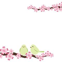 桜 小鳥 フレーム