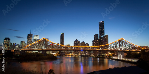 Brisbane Skyline At Dusk
