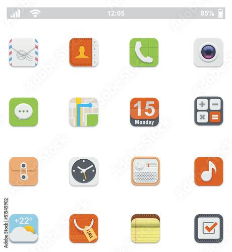 Generic smartphone UI icons