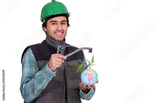 Man in a hard hat