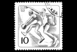 Basketball on a postage stamp