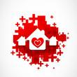 real estate love design illustration