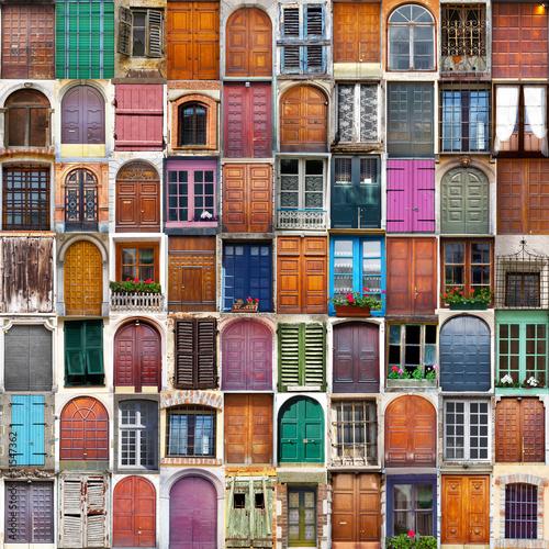 drzwi i okna kolaż