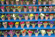 Rows of Primula in Flower Pots