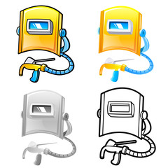 Various styles of Welding Sets. Industrial market Items Vector I