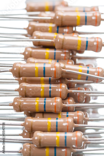 Background of resistors