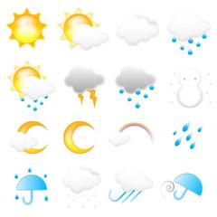お天気アイコンセット Weather Vector Icon Set