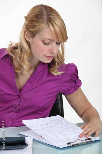 A female accountant