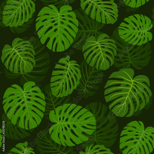 Pattern leafs green