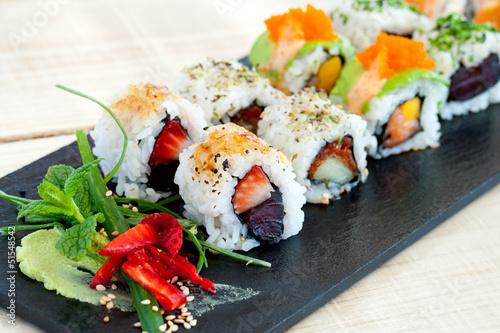 Fototapeten,maki,japanese,makro,sushi