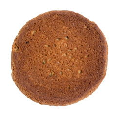 single oat cookie reverse side