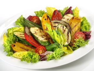 Salat mit Grillgemüse