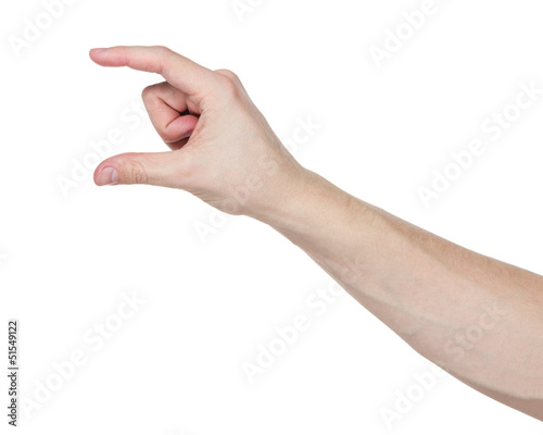 adult man hand to hold paper card