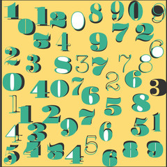 Abstract numbers pattern