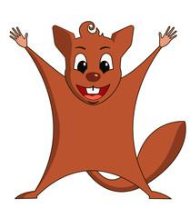 Fun zoo. Illustration of cute Flying squirrel