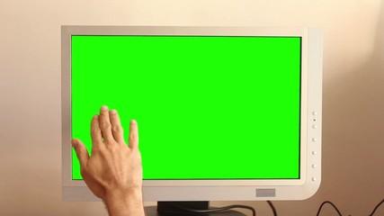 Monitor táctil con croma
