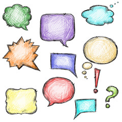 Set of colorful speech bubbles, vector EPS 10