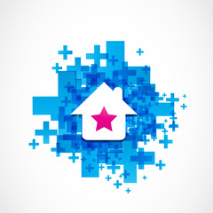 beautiful house icon