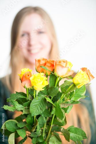 Rosen verschenken