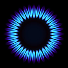 Natural gas flame.