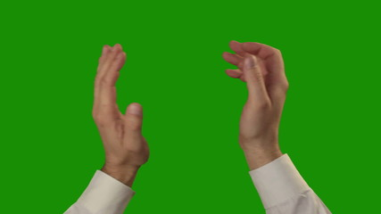 Applause on the green Chroma Key