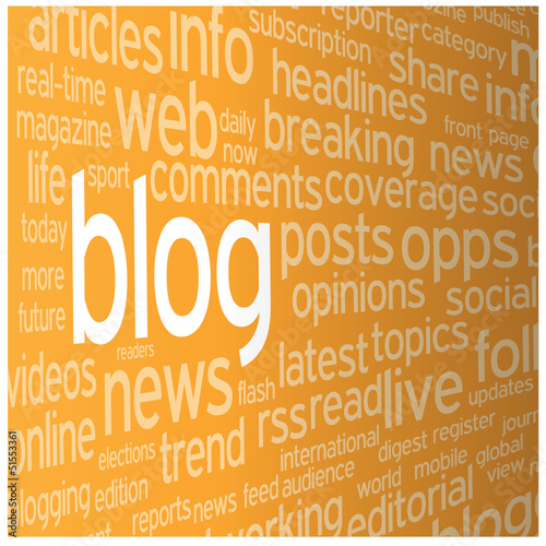 """BLOG"" Tag Cloud (news online website web internet social media)"