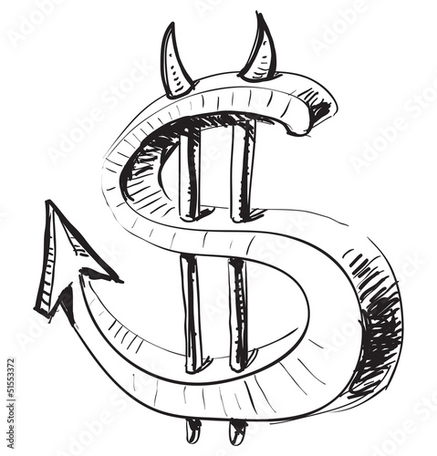 Devil money dollar icon