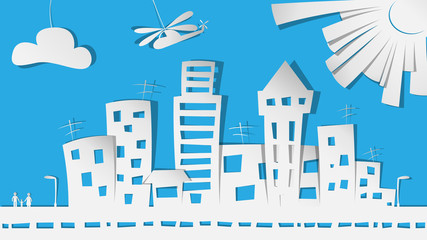 City in paper