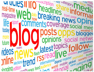 """BLOG"" Tag Cloud (web internet news online website social media)"