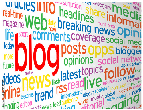"""BLOG"" Tag Cloud (web internet news online website social media)"