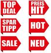 Ecken Slogans - Top Deal - Spartipp - Sale - Neu