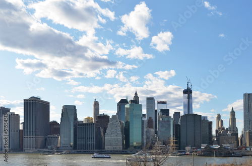 Manhattan Skyline over Hudson River.