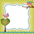 Floral frame with a birds