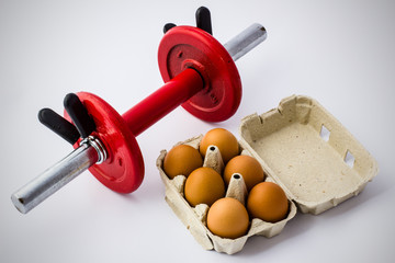 Eggs and Dumbbell