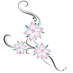 fiori di ciliegio stilizzati tatuaggio