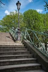 escaliers canal Saint-Martin à Paris