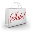 Sale Word White Shopping Bag Customer Store