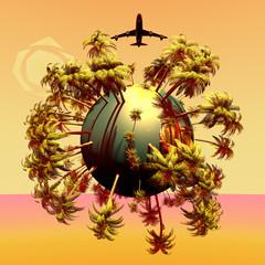 Mini planeta y avion