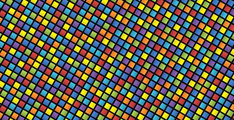 Sfondo a quadretti colorati con distorsione