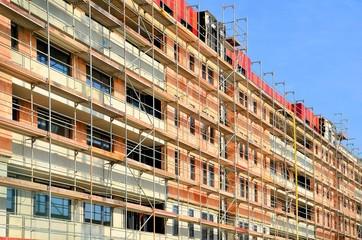Baustelle Häuserblock