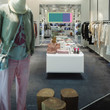 Casual clothing store with lots of casual accessories