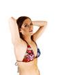 Young bikini woman.