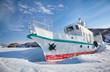Ship in frozen baikal