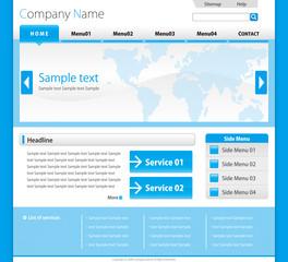 企業ホームページテンプレート