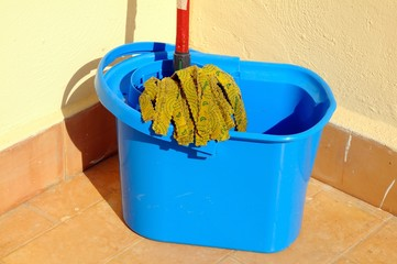 Mop and bucket, Spain © Arena Photo UK