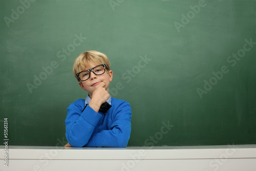 Schoolboy at the Blackboard