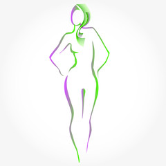 woman silhouette with hairs